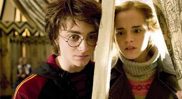 Harry y Hermione en 'El Cáliz de Fuego'