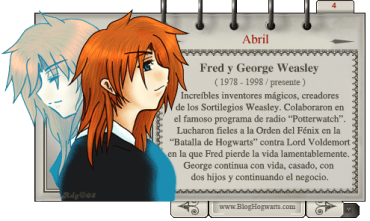 Fred y George Weasley –  Magos del Mes Abril