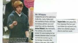 Entrevista a Rupert y Emma en el Rodaje de la Sexta Película de Harry Potter