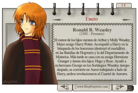 Ron Weasley - Mago del Mes Enero 2009