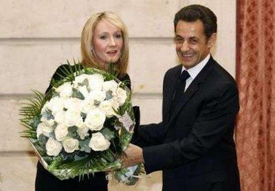 JK Rowking y Nicolas Sarkozy