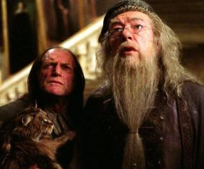 Albus Dumbledore y Argus Filch