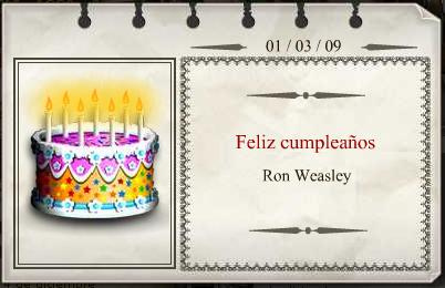 Feliz Cumpleaños Ronald Weasley