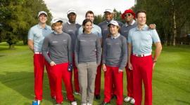 Rupert Grint y James y Oliver Phelps en el Evento de Golf de Caridad 'Shooting Stars Benefit 2010'