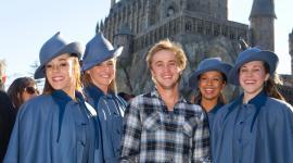 Tom Felton, de Visita Nuevamente en el Parque Temático de 'Harry Potter'