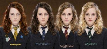 Hermione, en las 4 Casas de Hogwarts!