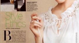 Primera Imagen de Emma Watson en la Nueva Línea de la Diseñadora Alberta Ferretti