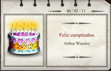 Feliz Cumpleaños, Arthur Weasley!