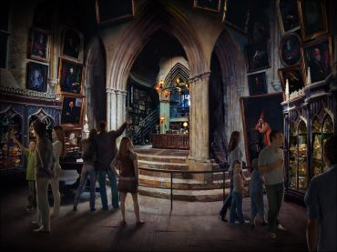 Arte Conceptual de la Oficina de Dumbledore para el Tour en los Estudios Leavesden