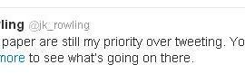 JK Rowling Publica Nuevo 'Tweet' y Confirma que Sigue Escribiendo
