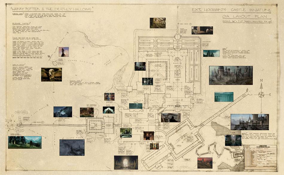 mapa de hogwarts Plano Completo de Hogwarts para la 'Wizard's Collection | Blog  mapa de hogwarts