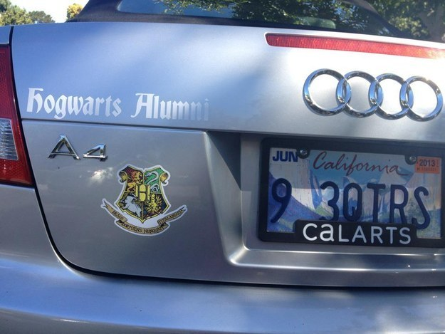 Harry Potter BlogHogwarts Placa de Auto (5)