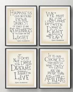 cuadros dumbledore frases
