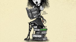 Ilustraciones de Harry Potter a lo Tim Burton
