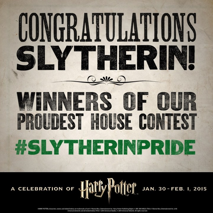 Harry Potter BlogHogwarts Ganadores Slytherin Pottermore