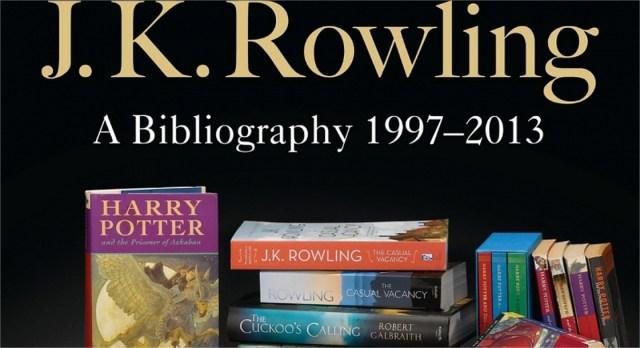 Harry Potter BlogHogwarts Bibliografia JK Rowling