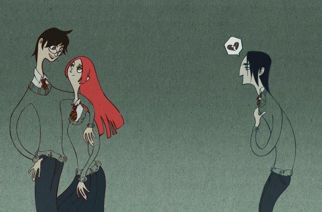 Harry Potter BlogHogwarts FanArt Severus Snape (4)