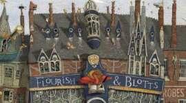 Primer Vistazo a Flourish & Blotts en la Edición Ilustrada de 'Harry Potter y la Piedra Filosofal'