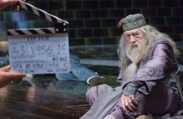 dumbledore en rodaje