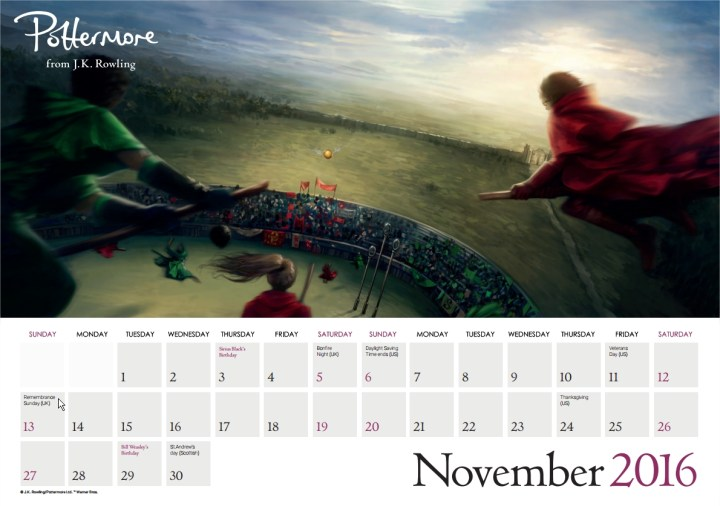 Harry Potter BlogHogwarts Pottermore Calendario 2016 (12)
