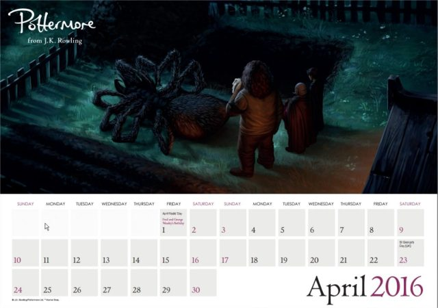 Harry Potter BlogHogwarts Pottermore Calendario 2016 (5)