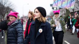 Fotografías de Emma Watson en la Women's March en Washington
