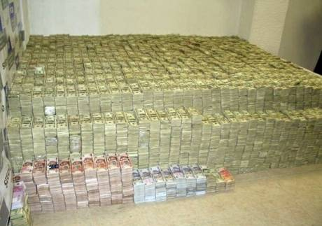 A montanha de dinheiro de um traficante de drogas