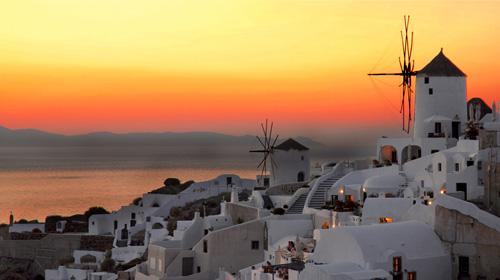 Santorini à tarde