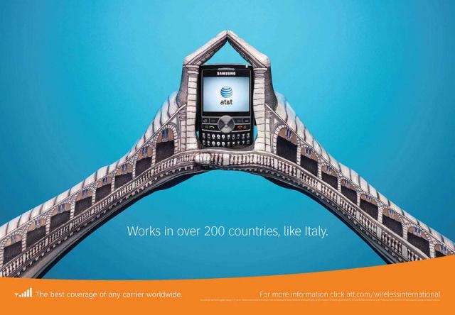 AT&T e seus anúncios incríveis de roaming internacional