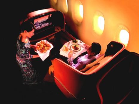 A primeira classe de diversas companhias aéreas