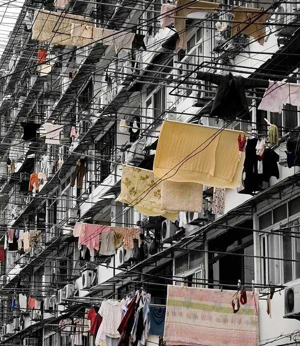 Os populosos condomínios chineses