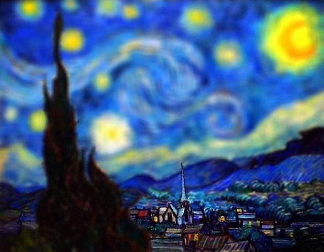 Obras de Van Gogh em tilt-shift