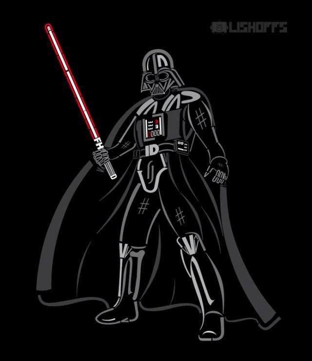 Personagens de Star Wars feitos com tipografia
