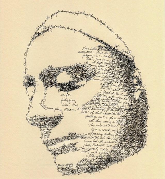 Retratos de autores com suas próprias palavras