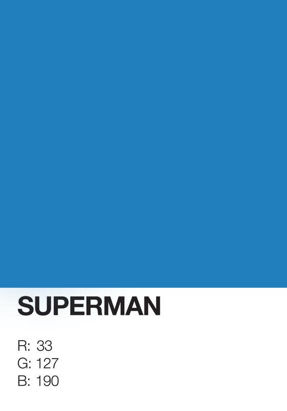 Pôsteres minimalistas em pantone de super-herois