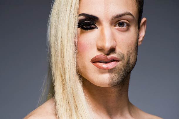 Travestis antes e depois da maquiagem
