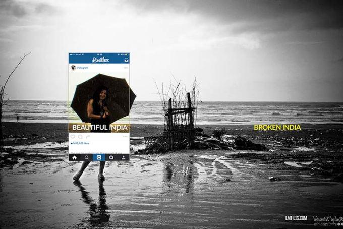 A triste realidade da India que as fotos do Instagram não mostram