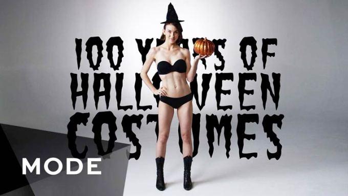 100 anos da evolução das fantasias de halloween em 3 minutos