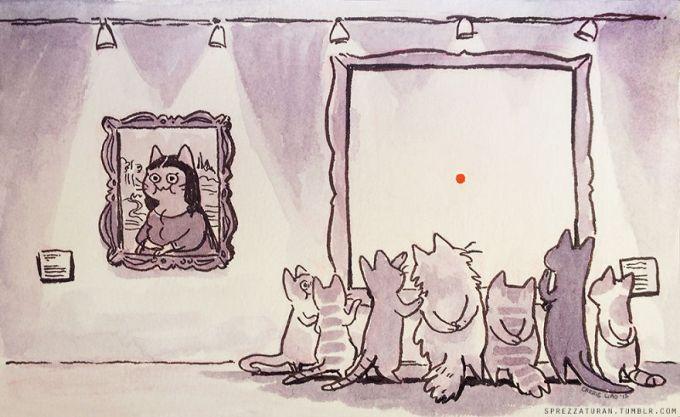 Enquanto isso, no museu dos gatos...