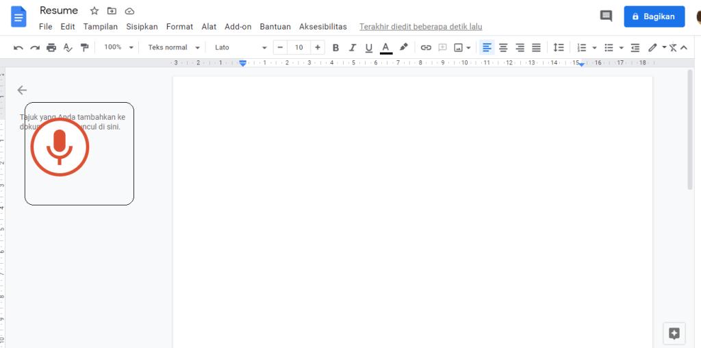 35+ Cara Voice Typing Di Google Docs paling mudah