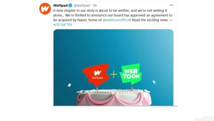 Wattpad acquisition by Naver, to join Webtoon