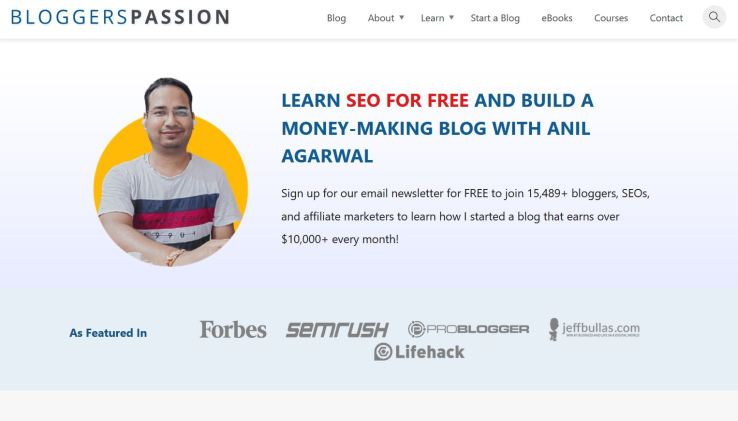 website technology tools used to build bloggerspassion blog