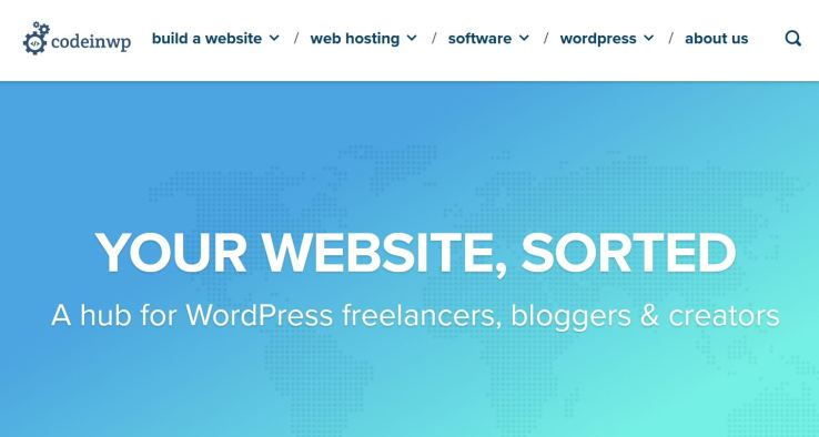 website technology tools used to build codeinwp blog