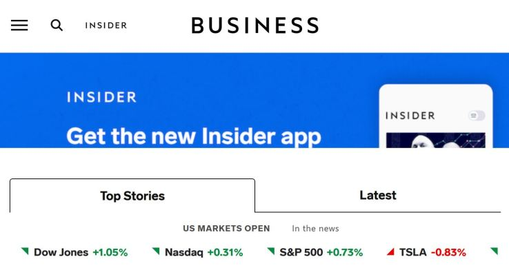 website technology tools used to build business insider