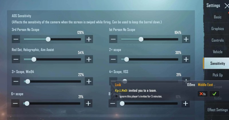 ADS Sensitivity (Screen is Swiped While Firing)