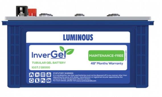 Luminous InverGel GEL Battery - IGSTJ18000