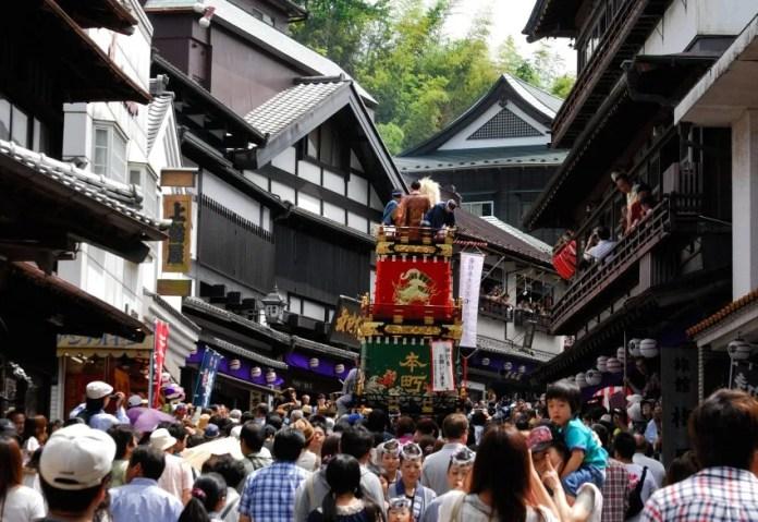 Festivales de Japón: Narita Gion Matsuri (成田祇園祭) celebrado en el pueblo cercano al aeropuerto internacional, alrededor del 8 de julio