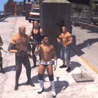 WWE Wrestlers run riot on the streets of GTA IV