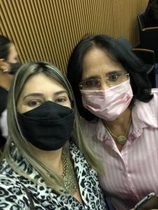 Dani Salomão e Ministra Damares Alves.