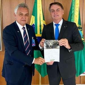 Presidente Jair Bolsonaro e o Deputado Federal General Eliezer Girão